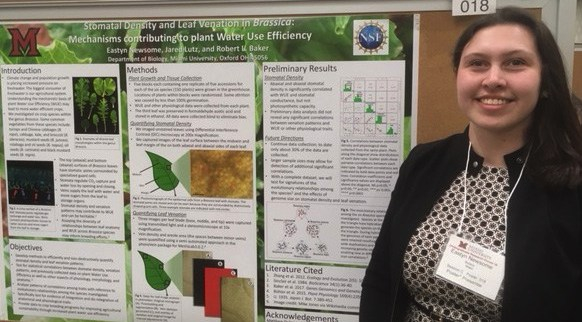 Eastyn Newsome presenting poster